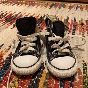 Toddler black Converse